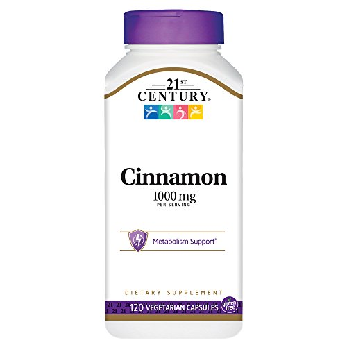 21st Century Cinnamon, 500mg, 120 Vegicaps (Pack of 3)