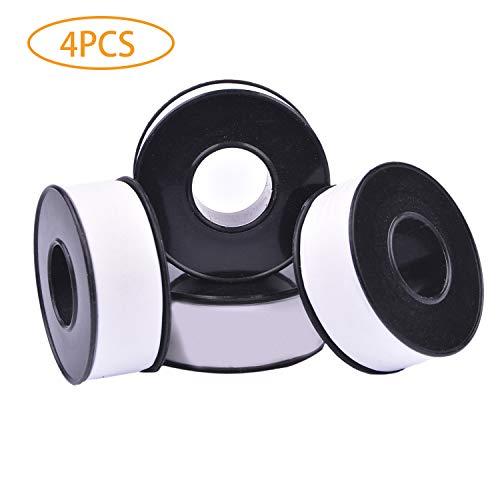 GCOA PTFE Rohr Gewindedichtband für Klempner Klempnerarbeit, -328 bis 680 Grad F Temperaturbereich, Premium Klasse, weiß, 3/4 Zoll x 590 Zoll (4 Pack)