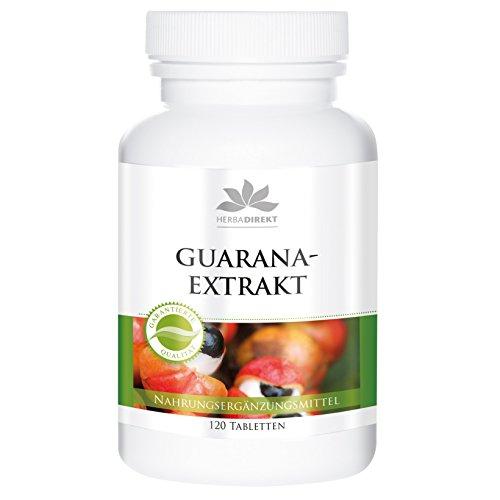Guarana Extrakt aus 1200mg - Guarana - 120 Tabletten - vegan