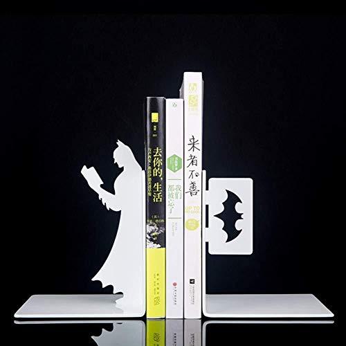 Hyzb Serres-Livres Batman Créatifs, Serre-Livres De Bureau en Métal, Serre-Livres Simple pour Étudiants, Décoration Artisanale, Serre-Livres pour Étagères (Color : B)