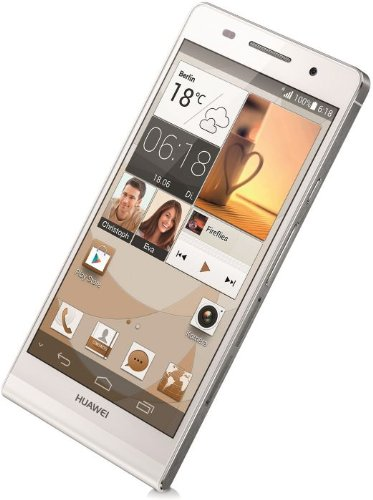 Huawei Ascend P6 Smartphone (11,9 cm (4,7 Zoll) Touchscreen, 8 Megapixel, 8GB Speicher, Android 4.2) weiß