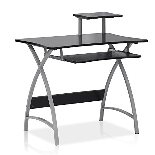 FURINNO Besi New Office Computer Desk, Black
