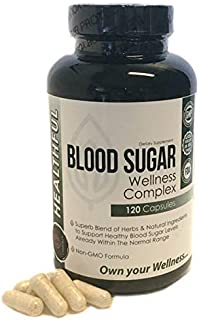 Blood Sugar Wellness Complex -with a Superb Blend of Herbs and Natural Ingredients to Support & Promote Healthy Blood Sugar Levels, Weight Loss and Insulin Levels-.