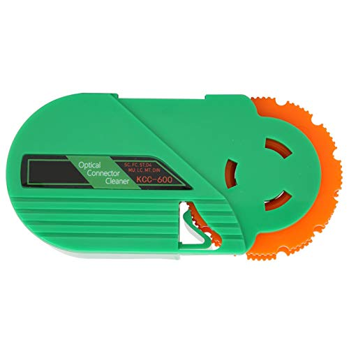 KCC-600 Glasfaser-Reinigungsbox Reiniger für optische Steckverbinder Einzel- und Mehrfachmodus-Reinigungswerkzeug für die Reinigung von Ferrulen für FC/SC/LC/ST/MU/D4/DIN-Glasfaser-Steckverbinder