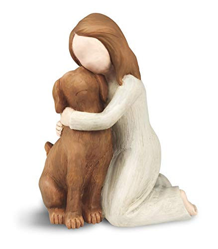 Dog Angel Figurines, Angel Dog Friendship Memorial Gifts, Sculpted Hand-Painted Figures for Dog Lovers (Mist)