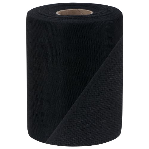 Falk Fabrics Tulle Spool, 6-Inch by 100-Yard, Black