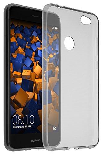 mumbi Funda Compatible con Huawei P8 Lite (2017) Caja del teléfono móvil, Negro Transparente