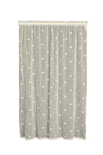 """Heritage Lace, White Bee 45x63 Panel w/Trim, 45 by 63"""""""