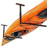 StoreYourBoard Single Kayak Ceiling Rack, Adjustable Storage Mount, Overhead Garage System (X-Large)