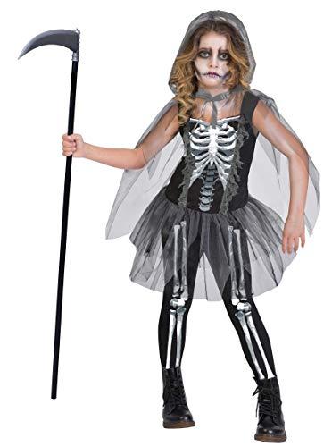 amscan 9903437 Disfraz de esqueleto de segador sombro, edad 14-16 aos, 1 unidad