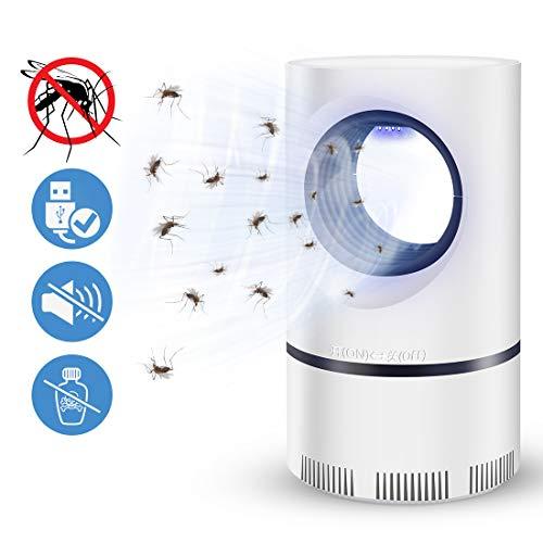 Ovareo Insektenvernichter, Elektrischer Insektenvernichter UV LED Mückenvernichter Insektenfalle Mückenlampe Mückenschut Fluginsektenvernichter für Innen und Außeneinsatz (Weiß)