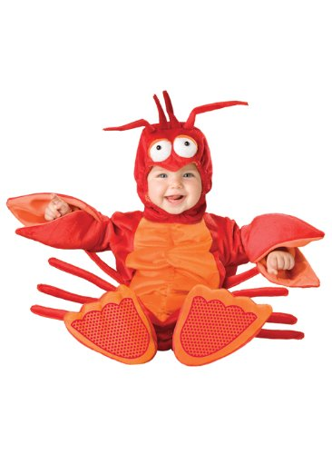 InCharacter Lil' Lobster Infant/Toddler Costume, Infant (12-18) Red