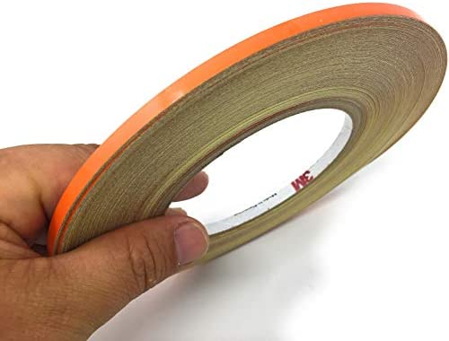 JNK NETWORKS 0 2 inch by 150 Foot Car Reflective Body Rim Stickers Decoration Strip Orange product image