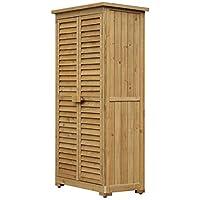 ✅DUREVOLE E STABILE: Realizzato in legno con vernice impermeabile. ✅DESIGN PERFETTO: Questo capanno è perfetto per tenere in ordine il tuo giardino! Al suo interno puoi sistemare attrezzi e utensili per il giardinaggio e il tetto è rivestito in asfal...