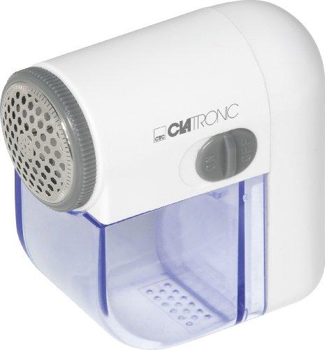 Clatronic MC 3240 Mini-Cleaner, ideal zum einfachen Entfernen von Flusen/Pilling, handliche Größe, weiß/blau