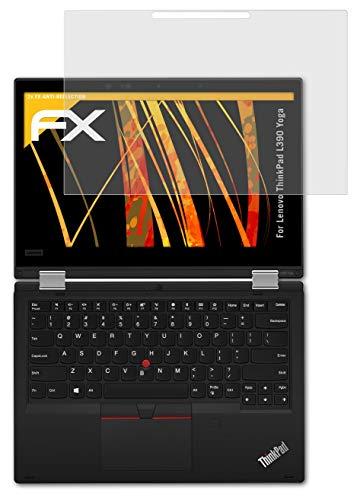 atFolix Panzerfolie kompatibel mit Lenovo ThinkPad L390 Yoga Schutzfolie, entspiegelnde & stoßdämpfende FX Folie (2X)