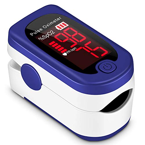 Pulse Oximeter Fingertip, Blood Oxygen Saturation Monitor,Portable Pulse Oximeter with Lanyard and Batteries