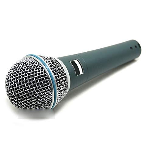 ZZNNN Un micrófono con Cable dinámico súper cardioide Profesional para el Rendimiento de Voces en Vivo Karaoke Podcast Stage Studio