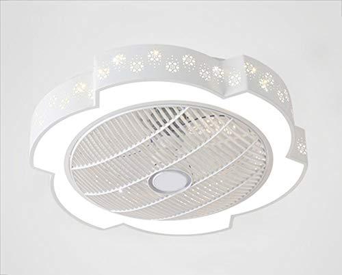 Con Luz LED Ventilador De Techo Lámpara De Techo Con Control Remoto Regulable Velocidad Del Viento Ajustable Mudo Blanco Metal Ventilador Iluminación Infantil Habitación Princesa Guardería Ø60cm