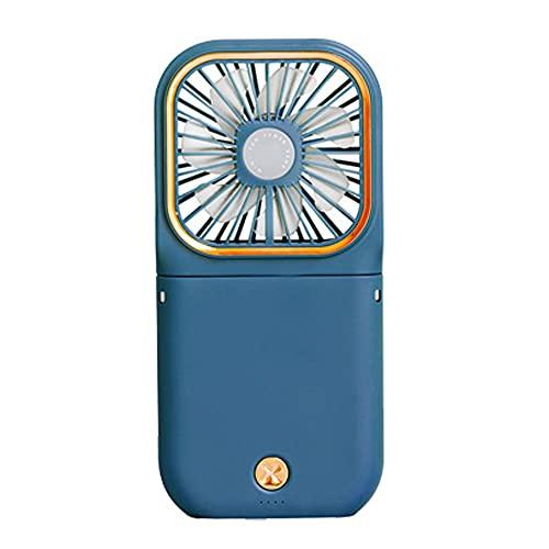 WWZZ Ventilador De Mano, Ventilador De Cuello Colgante, Ajuste Plegable De 180 °, Viento De Tres Velocidades, Diseño De Almacenamiento Plegable Ultrafino(Color: Versión Actualizada De Azul)