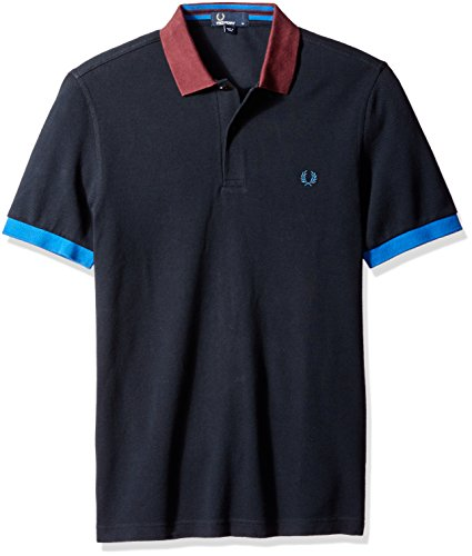 Fred Perry Authentics Colour Block Polo NAVY Small