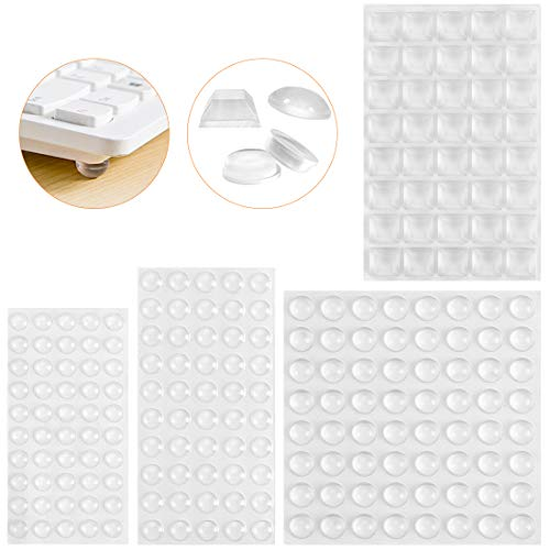 O-Kinee Elastikpuffer,204 Stück Möbelpuffer Gummipuffer Transparent Schutzpuffer Selbstklebend Anschlagdämpfer Klebstoff Stoßfänger Pads Bumper Pads für Tür Puffer Furniture (4 Größen)