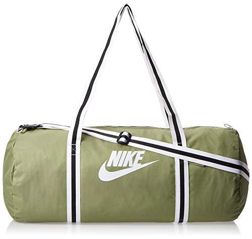 Nike Heritage Borsone Da Palestra, Unisex – Adulto, Dusty Olive/Dusty Olive/White, MISC
