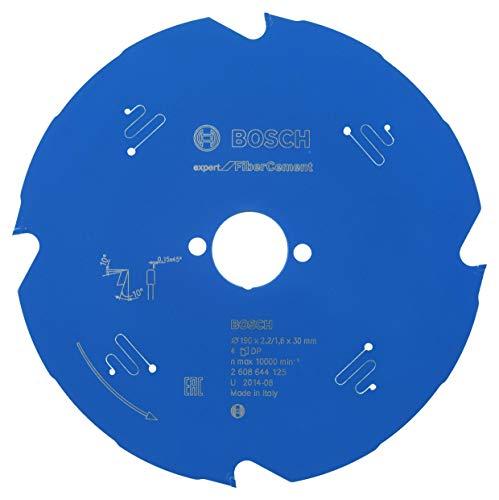 Bosch Professional Kreissägeblatt Expert for Fiber Cement (Faserzement, 190 x 30 x 2,2 mm, 4 Zähne, Zubehör Kreissäge)