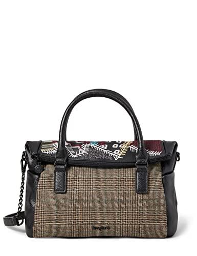 Desigual Accessories Pu Hand Bag, Borsa a Mano. Donna, Nero, U