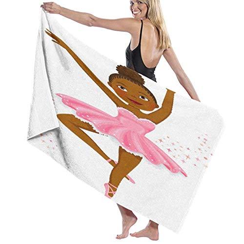 Grande Suave Ligero Microfibra Toalla de Baño Manta,Linda Bailarina de Piel Oscura Bailando,Hoja de Baño Toalla de Playa por la Familia Hotel Viaje Nadando Deportes Decoración del Hogar,52' x 32'