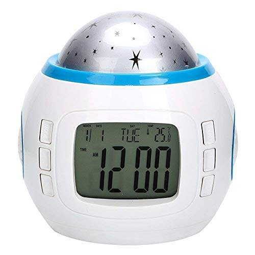 DUBENS Digitaler Wecker LED Wake-Up Licht Tageslicht wecker für Erwachsene, Kinder, Wecker mit 7 farbwechselnden Zeigen Zeit Datum Temperatur