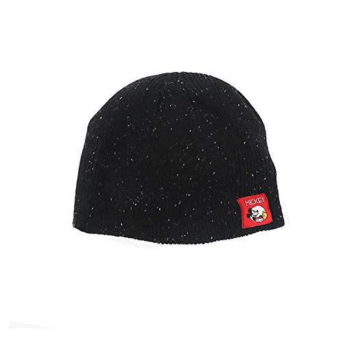 Mickey Mouse Beanie Hat Knit Melange (Black)