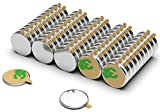 NeoMagNova® 100 Stück selbstklebende Neodym Magnete 10x1 mm N42 - Mini Klebemagnete paarweise magnetisiert