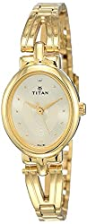 Titan Karishma Revive Analog Champagne Dial Women's Watch-NM2594YM01 / NL2594YM01,Titan,NL2594YM01