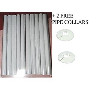 Home DIY – Lote de cubiertas para tubería (10 unidades, 20 cm), color blanco