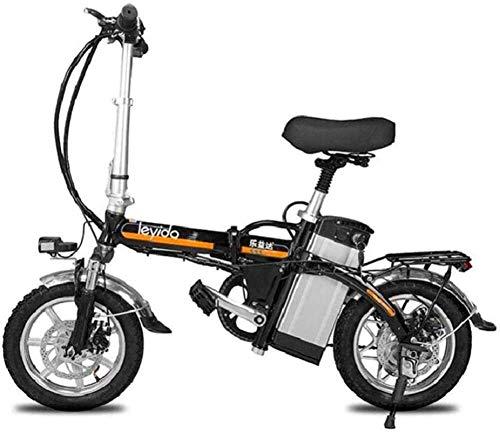 RDJM Bciclette Elettriche Veloce Biciclette elettriche for adulti Portable ibrida elettrica bici adulta della bicicletta 48V rimovibile agli ioni di litio da 400W motore da 14 pollici della bici della