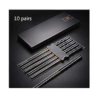 日本の箸家庭用304ステンレス箸ノンスリップハイグレード合金10ペアセット、高温、パーフェクトなギフト