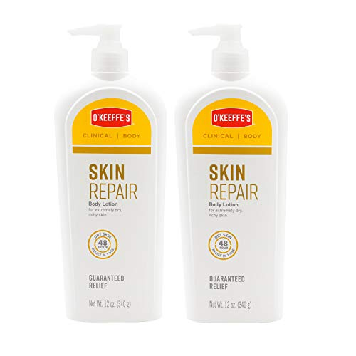 O'Keeffe's Skin Repair Body Lotion and Dry Skin Moisturizer, Pump Bottle, 12 ounce, (Pack of 2)