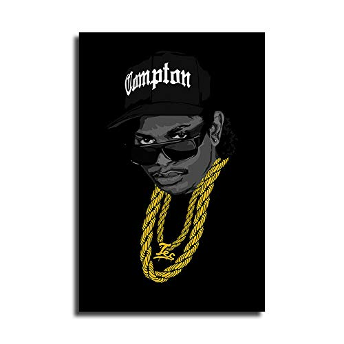 WENIN Eazy e Art Canvas Art Poster and Wall Art Picture Print Modern Family Bedroom Decor Posters