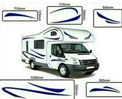 Nr.736 Wohnmobil-Grafik-Aufkleber, für Wohnmobil, Van, Wohnwagen, universelle Passform