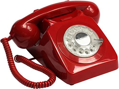 GPO 746 Teléfono fijo disco estilo retro años 70