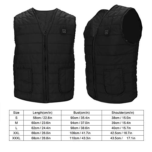 Naroote Heated Waistcoat, USB Charging Intelligent Heating Vest Far Infrared Outdoor Warm Keeping Waistcoat-Quality is Our Culture(XXXL)