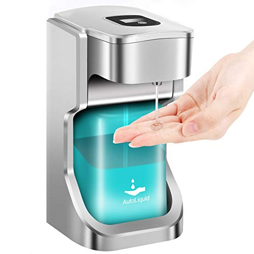 Automatic Soap Dispenser,Touchless Infrared Sensor Gel Soap Dispenser, IPX4 Water-Resistant Hand sanitizer Dispenser ,Operated 500ML Capacity for Home, Hospital, School, Office, Hotel, Kids, Adults