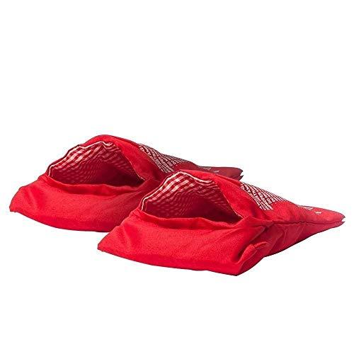 tempo di saldi 2 X Sacco Cuoci Patate In Microonde Rosso Riutilizzabile Per Dieta Borsa Cucina