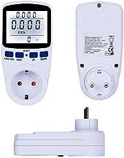 Strömmätare plug-in strömmonitor med stor LCD-skärm, strömmätare wattmeter uttag med 7 bildskärmslägen