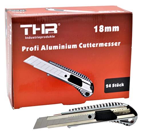 THR Juego de 24 cúteres profesionales de alumiino, para cuchillas de corte de 18mm