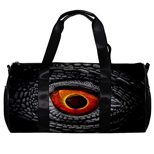 Bolsa de deporte redonda con correa de hombro desmontable ojo de dragón para entrenamiento de la noche para mujeres y hombres