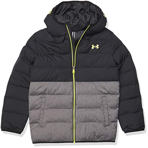 Under Armour Boys' Pronto Puffer Jacket, Black F202, YXL