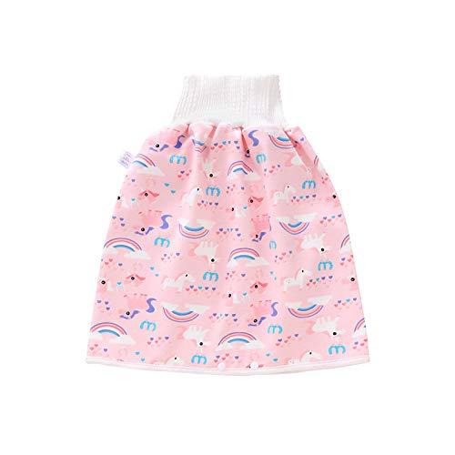 None/Brand Heiqlay Baby Windelrock, Windel Trainingsrock Töpfchen rainingsrock Kinderwindelrock Reine Baumwolle Wasserdicht Atmungsaktiver für 0-12 Jahre Baby Kleinkind Kinder (1 Stück, Pink, L)