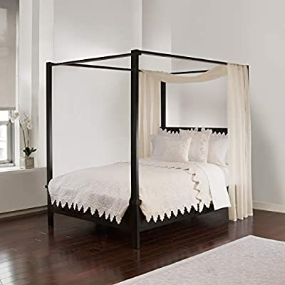 Royale Linens Bed Canopy Scarf, Ivory by Imported